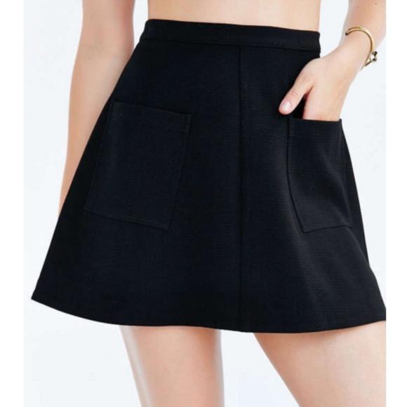 f6048938945f silence + noise Skirts | Silence Noise Amber Pocket Aline Skirt Sz 4 ...